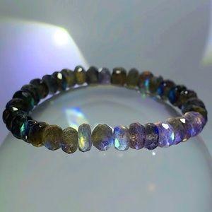 Jewelry - High Quality Labradorite Gemstone Bracelet!